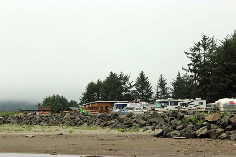 Hobuck Beach RV Area From Beach