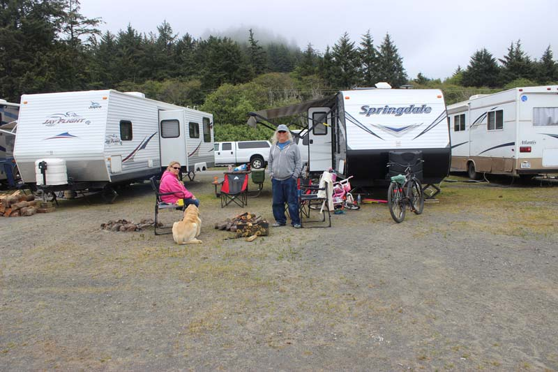 Hobuck Beach RV Campers