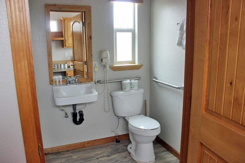 South Cabin Wheelchair Bathroom